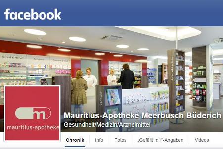 Facebook-Seite Mauritius-Apotheke Meerbusch